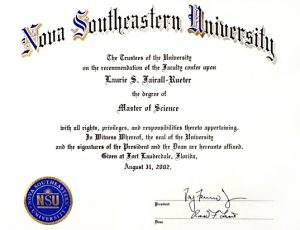 Dr Laurie Master of Science