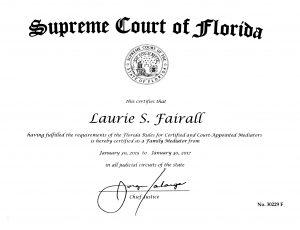 Mediation certificate 2